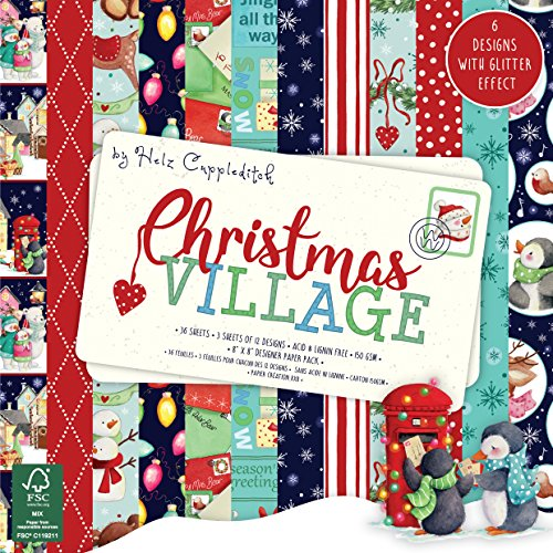 Helz Cuppleditch Christmas Village Paper Pad, multicolore, taglia unica