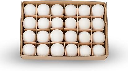 NaDeco Hühnereier weiß 24 Stück | Hühnerei | Dekoeier | Ostereier | Osterdeko | Osterdekoration