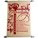 Anniversary Card - Anniversary Scroll Greeting Card Gifts