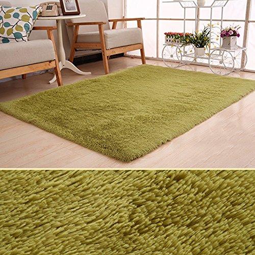 Super Soft modernen Shag Wohnzimmer Teppiche flauschig EIN Teppich behaglichen Schlafzimmer Home Dekorieren Boden Kids Spielmatte, grasgrün, 80 * 160cm - Badezimmer Gras-teppich