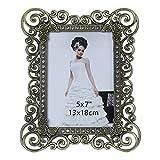 Giftgarden 13x18 schöner Bilderrahmen mit Kristallen Dekorahmen Elegant Antik