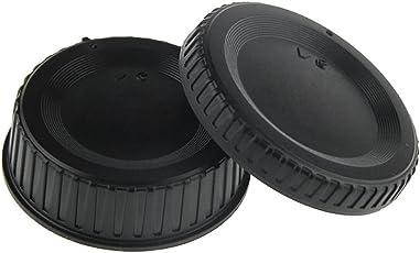 QuikProf Rear Lens Cap and Camera Body Cover Cap for NIKON DSLR Cameras Nikon Df, D7100, D7000, D5200, D5300, D3300, D5100, D3200, D3100, D800, 810, D700, D600, D610, D300S, D90, D750, D7200 Digital SLR Camera