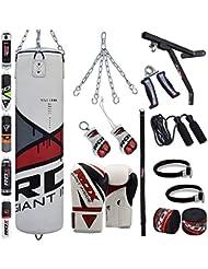 RDX Sac de Frappe Rempli Lourd MMA Punching Ball Kickboxing Muay Thai Arts Martiaux Kit Boxe Avec Gants Chaine Suspension support Mural Punching Bag