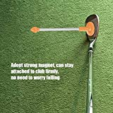 Regun Golf Angle -Yellow Golf Magnetic Club Alignment Stick Demonstrates Correct Golf Swing Aim Face Aimer Alignment Swing Training Aid