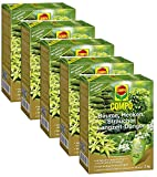 Oleanderhof® Sparset: 5 x COMPO Bäume, Hecken, Sträucher Langzeit-Dünger, 2 kg + gratis Oleanderhof Flyer