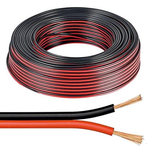Lautsprecher Kabel Rot und Schwarz 2X 0,5Mm Audio Draht Auto Boot HiFi 12V 10Amp Sound Qualität Draht 5 METERS -