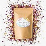 Pura Source Biologisch abbaubare Konfetti Hochzeiten, Partys | Umweltfreundlich | 100% natürliche und nachhaltig Blütenblätter und Knospen von Rosen, Ringelblumen, Lavendel und Kornblumen