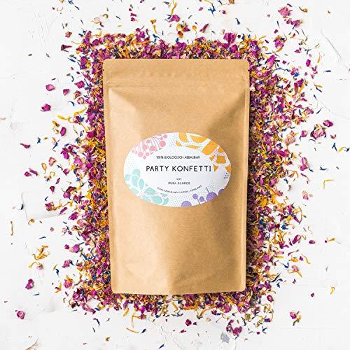 Pura Source Biologisch abbaubare Konfetti Hochzeiten, Partys | Umweltfreundlich | 100% natürliche und nachhaltig Blütenblätter und Knospen von Rosen, Ringelblumen, Lavendel und Kornblumen -