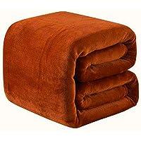 Yozika Stylish Home Premium Double Bed Size Polar Fleece Woolen Blanket Set of 1 Colour Brown