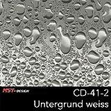 MST-Design Wassertransferdruck Folie I Starter Set Klein I WTD Folie + Dippdivator/Aktivator + Zubehör I 4 Meter mit 50 cm Breite I Wassertropfen Grau I CD 41-2