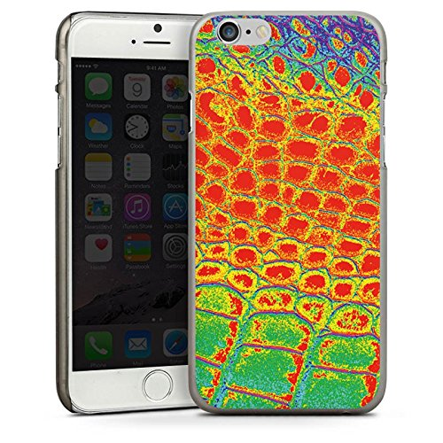 Apple iPhone 4 Housse Étui Silicone Coque Protection Peau de serpent Serpent Serpent CasDur anthracite clair