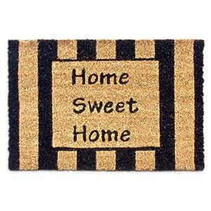 relaxdays 10016778 home sweet home paillasson tapis d 39 entr e rectangulaire fibre de coco nature. Black Bedroom Furniture Sets. Home Design Ideas