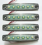 4 x 6 SMD LED Weiß Begrenzungsleuchte Umrissleuchte 24V mit E-Prüfzeichen Positionsleuchte Auto LKW PKW KFZ Lampe Leuchte Licht Front Universal