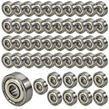 JBS basics 50 Stück [ 625 ZZ ] Kugellager [ 5 x 16 x 5 mm ] Miniatur Lager Rillen Radiallager Precicion Ball Bearing