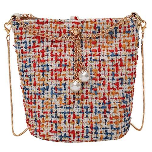 Dkings Bucket Crossbody Bag, kleine Umhängetaschen Geldbörse Cross Body für Frauen -