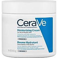 CeraVe, Crema Idratante, 454g / 16oz, Crema idratante quotidiana per viso, corpo e mani per un'idratazione istantanea e…