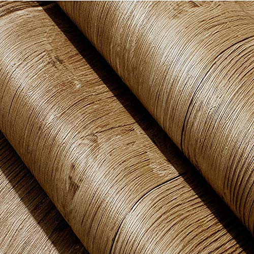 ZCF Graue Vintage 3D Holz Tapete Rolle rustikal strukturierte Vinyl Dunkelbraun Faux Plank Wall Paper für Schlafzimmer BackgroundWallpaper , Kontaktpapier Holz (Farbe : A) -