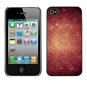Omega Covers - Snap on Hard Back Case Cover Shell FOR Apple iPhone 4 / 4S - Texture Pattern Rings Reverberation