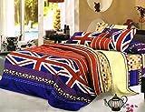 Dream Clouds 3D Polycotton Double Bedsheet with 2 Pillow Covers_Multicolor_90'x100''/17''x27'' Amazon deals