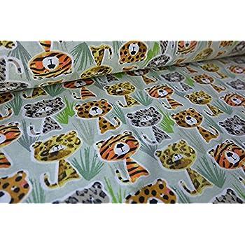 Amazon.de: Qualitativ hochwertiger Jersey Stoff mit Tigern und ...