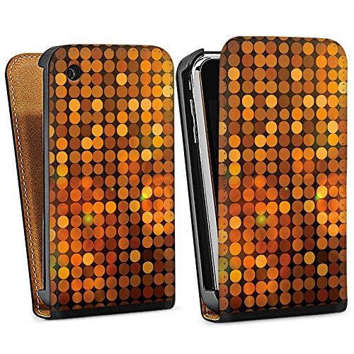 Apple iPhone 5s Housse Étui Protection Coque Discothèque Paillettes Fête Sac Downflip noir