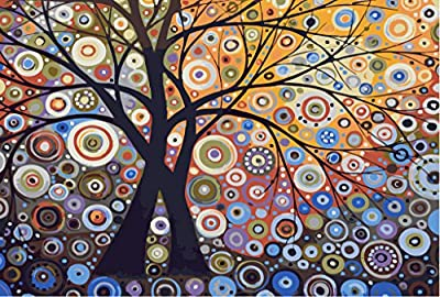 [ New Release ] Diy Oil Painting by Numbers, Paint by Number Kits - Glare Tree Pachira 16*20 inches - Digital Oil Painting Canvas Wall Art Artwork Landscape Paintings for Home Living Room Office Christmas Decor Decorations Gifts - Diy Paint by Numbers Diy