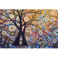 [ New Release ] Diy Oil Painting by Numbers, Paint by Number Kits - Glare Tree Pachira 16*20 inches - Digital Oil Painting Canvas Wall Art Artwork Landscape Paintings for Home Living Room Office Christmas Decor Decorations Gifts - Diy Paint by Numbers Diy Canvas Kit for Adults Advanced Children Seniors Junior - New Arrival - No. D182
