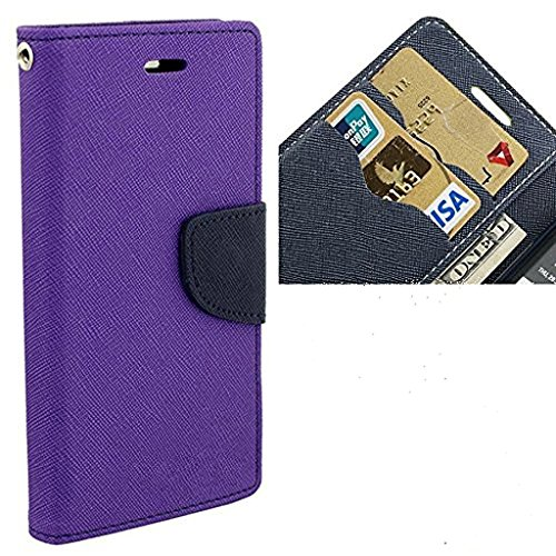 CEDO Stylish Luxury Mercury Magnetic Lock Diary Wallet Style Flip Cover Case for Lenovo Vibe K5 Note (Purple)