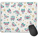 PQU Awesome Mouse PadTapis de Souris Unique Dessin de tête de Chien Mignon Rectangle...