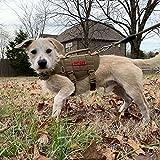 OneTigris MOLLE Taktisches Welpengeschirr Einstellbar Weich Geschirr für Kleine Hunde Welpen Wandern/Walking Outdoor-Aktivitäten (Coyote Braun) |MEHRWEG Verpackung