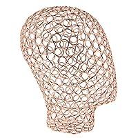 D DOLITY Premium Rose Gold/Black Tabletop Hats Headset Headband Jewelry Display Holder Rack Head Model Wigs Dryer Stand
