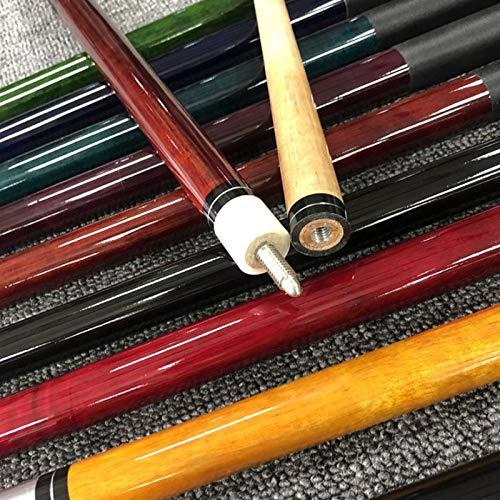 banxia Snooker Queue Stick 10mm Leder Ledergriff Leinen Leinentasche Zufällige Farbe Leinenfaden
