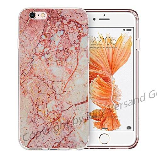 Blitz® MARBRE motifs housse de protection transparent TPE caricature bande iPhone Marbre vert bleu M12 iPhone 4 Marbre rouge M3