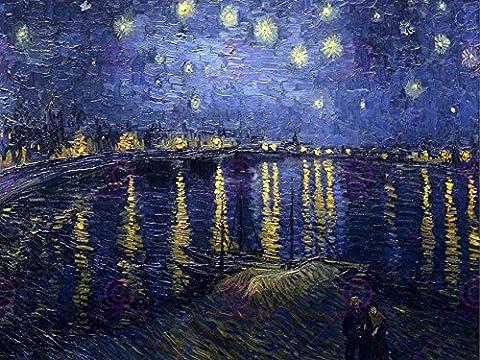 VINCENT VAN GOGH STARRY NIGHT 1888 OLD ART PAINTING 24x18 INCH (61x46 Cms) PLAKAT POSTER 2989OMLV