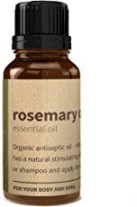 Rouh Essentials 100% Pure and Organic Rosemary Oil, 15ml