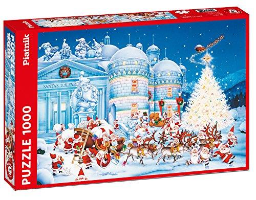 Piantik 562242 - Puzzle (1000 Piezas), diseño de fábrica de Juguetes de Navidad