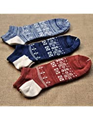 XIU*RONG Calcetines Para Hombres Calcetines Para Otoño E Invierno Hombre De Calcetines Para Barcoscafé Oscuro25-27 Hombres Tamaño (10 Pares)