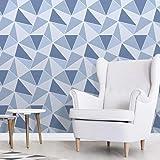Fine Décor FD41992 UK Apex Geo Sidewall Wallpaper, Blue