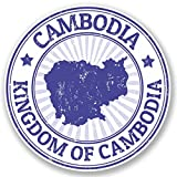 2 x 10cm/100 mm Cambodge Auto-adhésif Autocollant Vinyle Autocollant pour portable Assurance voiture signer Fun #4718