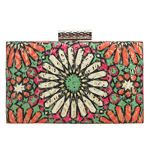 fc38b76506 Bonjanvye Sequins Flowers Clutch Purses for Women Evening Bags and Clutches  Red