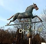 Dekowelten LUXUS Wetterpferd, Wetterhahn Wetterfahne Pferd Kupfer sehr Hochwertig ca.10kg 3d Optik