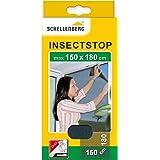 Schellenberg 20409 nylon horrengaas, muggen en insectengaas inclusief bevestigingstape, bevestiging zonder te boren, 150 x 18