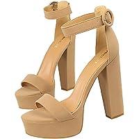 Donna Scarpe Tacco Alto Signora Classico Punta Aperta Sandali High Heels Alto Lavoro Festa Elegante Scarpe de Moda Tacco…