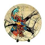 #2: Kolorobia Charismatic Peacock Home Decor Wall Plate 10