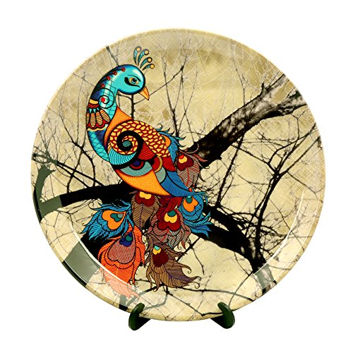 Kolorobia Charismatic Peacock Home Decor Wall Plate 10
