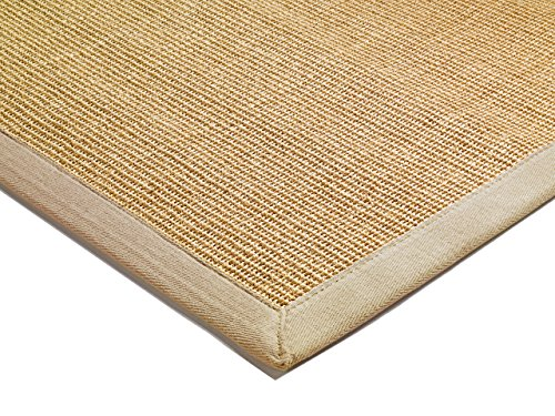 Alfombra salon sala de estar Carpet clásico Design BORDERED SISAL RUG