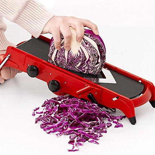 NEWELL Mandolinenschneider Mit Gemüsehobel - Gemüseschneider Mandoline Gemüseschneider - Gemüseschneider Gemüsescheiben, Geschnitten Pommes Frites, Gemüsestreifen