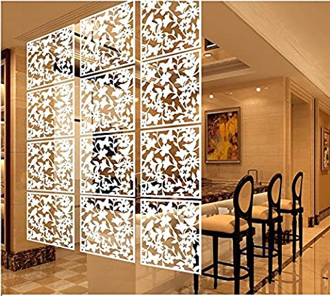 LRZCGB Hanging Room Divider,12pcs Safety PVC Screen Panel with Butterfly