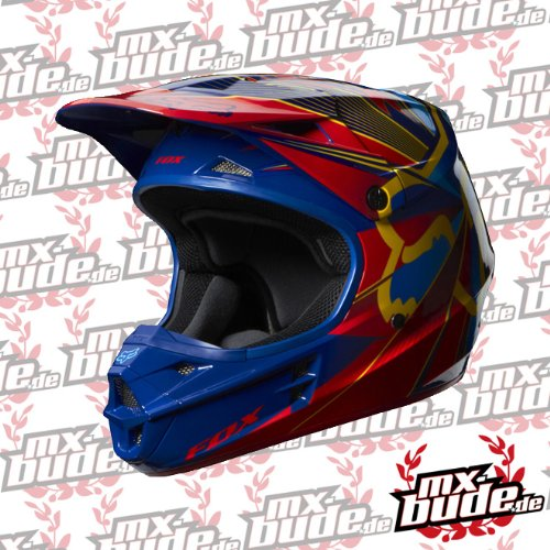 FOX V1 Radeon MX Helm, Farbe blau, Größe XXL (63/64)