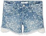 Name It Girl's Nkfsalli Dnmaselle 1057 Shorts Short, Blue (Light Denim Light Denim), 158